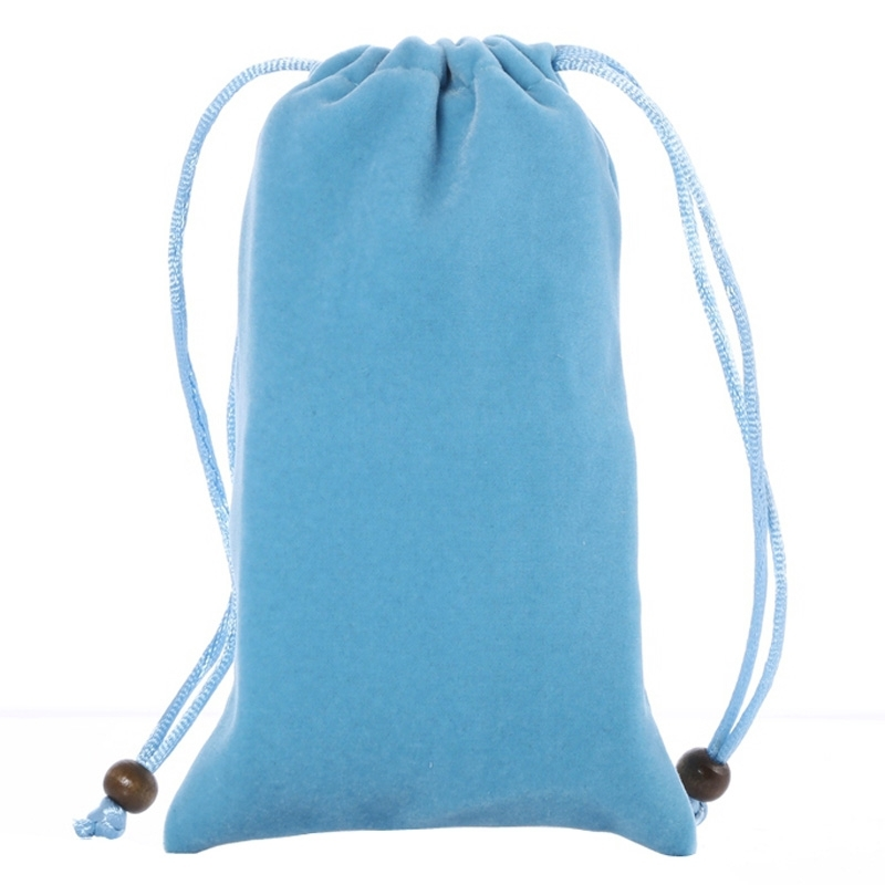 Universal Leisure Cotton Flock Cloth Carry Bag with Lanyard for iPhone 6 / Galaxy S6 / S5 / G900 / S IV / i9500 / SIII / i9300(Blue)