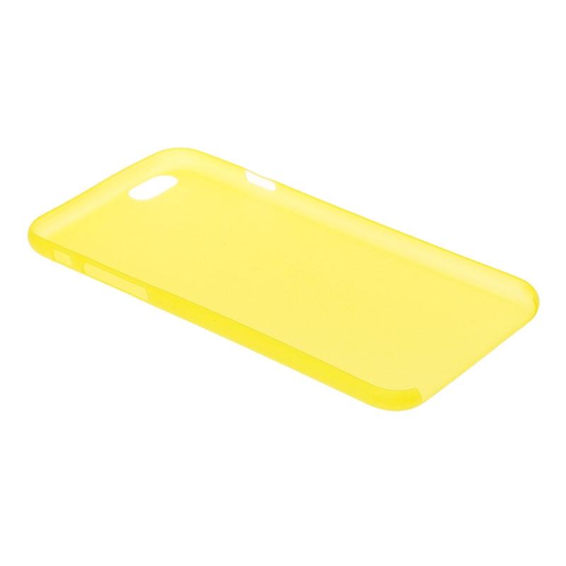 iPhone 6 Plus & 6S Plus Transparant ultra-dun 0.3mm Polycarbonaat back cover Hoesje (geel)