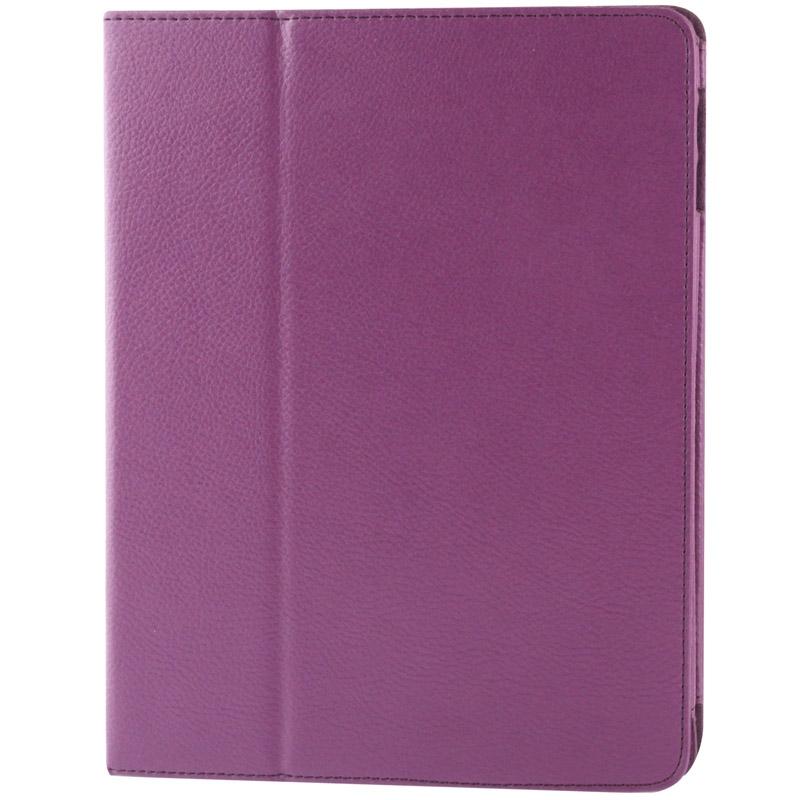 iPad 2 / iPad 3 / iPad 4 horizontaal Litchi structuur PU leren Flip Hoesje met houder en slaap / ontwaak functie (paars)