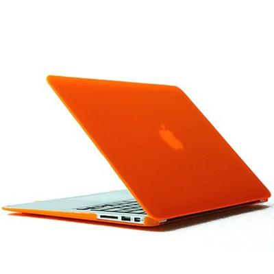 MacBook Air 13.3 inch Kristal structuur hard Kunststof Hoesje / Case (Oranje)
