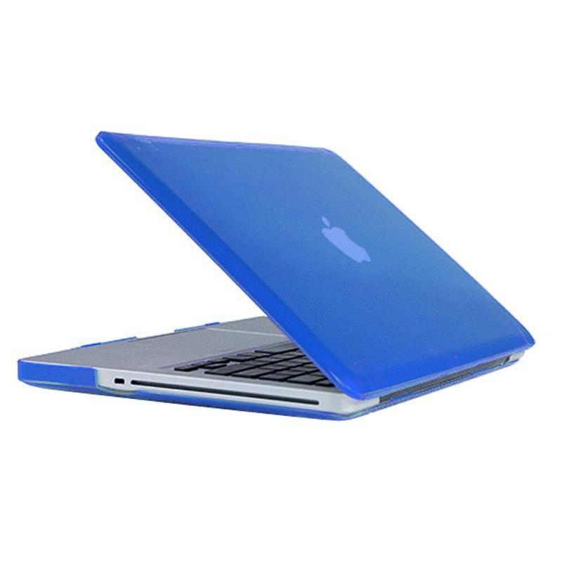 MacBook Pro 15.4 inch Kristal structuur hard Kunststof Hoesje / Case (blauw)
