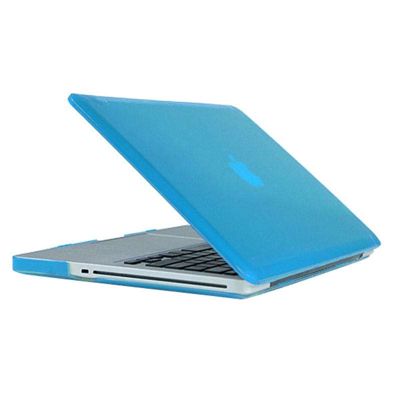 MacBook Pro 15.4 inch Kristal structuur hard Kunststof Hoesje / Case (baby blauw)
