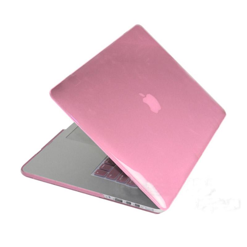 MacBook Pro Retina 13.3 inch Kristal structuur hard Kunststof Hoesje / Case (roze)
