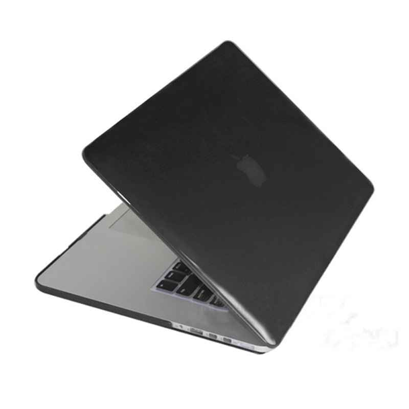 MacBook Pro Retina 15.4 inch Kristal structuur hard Kunststof Hoesje / Case (zwart)