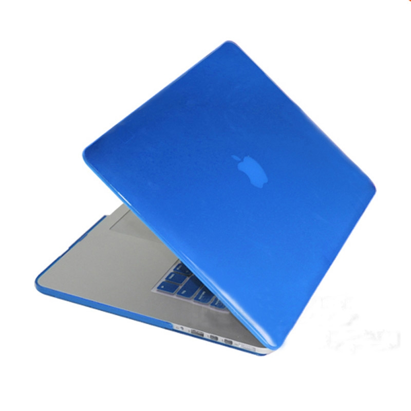 MacBook Pro Retina 15.4 inch Kristal structuur hard Kunststof Hoesje / Case (blauw)