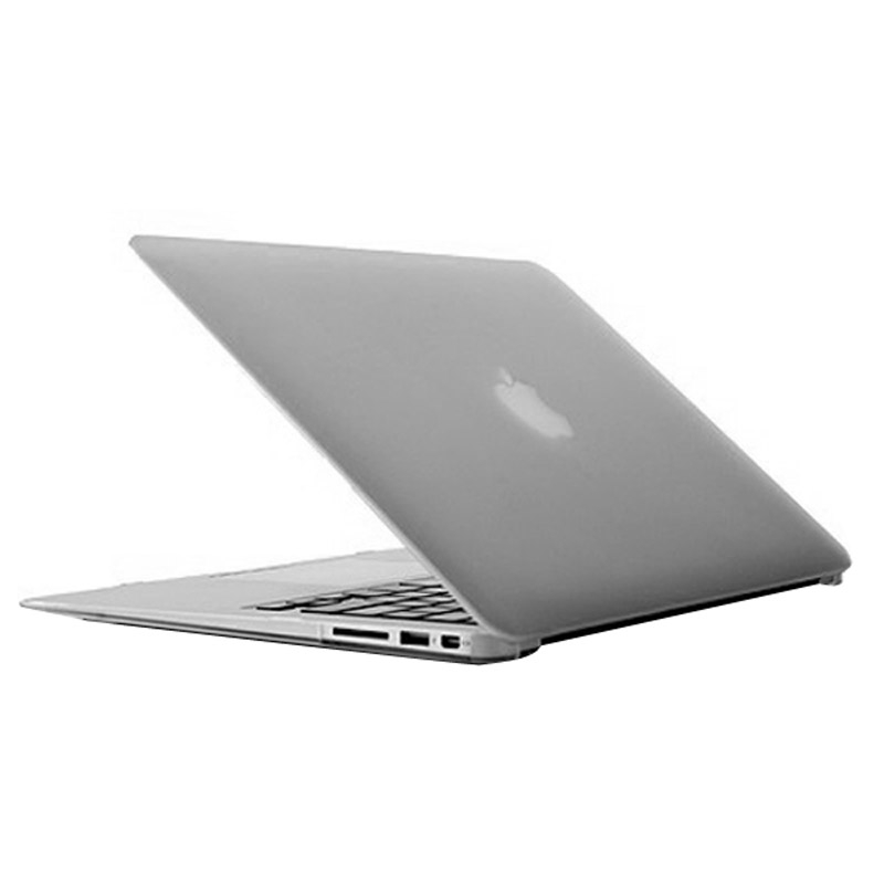 MacBook Air 11.6 inch Frosted structuur hard Kunststof Hoesje / Case (transparant)