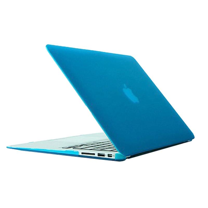 MacBook Air 11.6 inch Frosted structuur hard Kunststof Hoesje / Case (baby blauw)