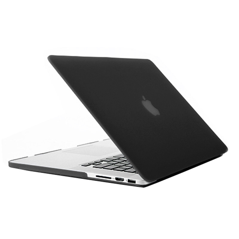 MacBook Pro Retina 15.4 inch Frosted structuur hard Kunststof Hoesje / Case (zwart)
