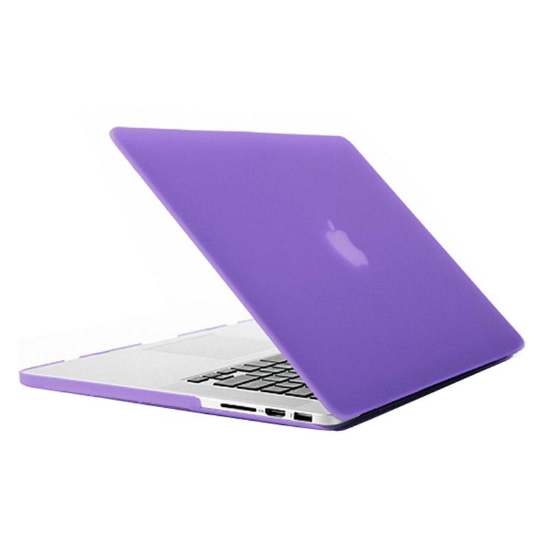 MacBook Pro Retina 15.4 inch Frosted structuur hard Kunststof Hoesje / Case (paars)