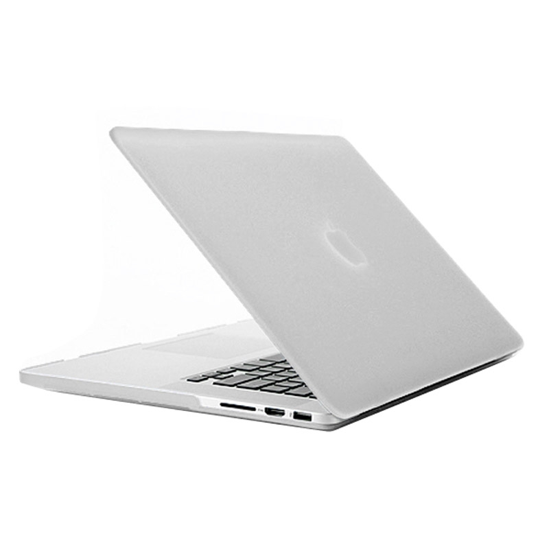 MacBook Pro Retina 15.4 inch Frosted structuur hard Kunststof Hoesje / Case (transparant)