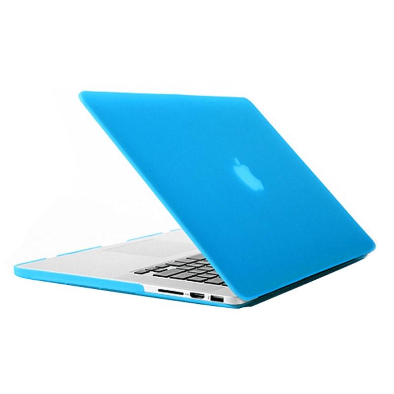 MacBook Pro Retina 15.4 inch Frosted structuur hard Kunststof Hoesje / Case (baby blauw)