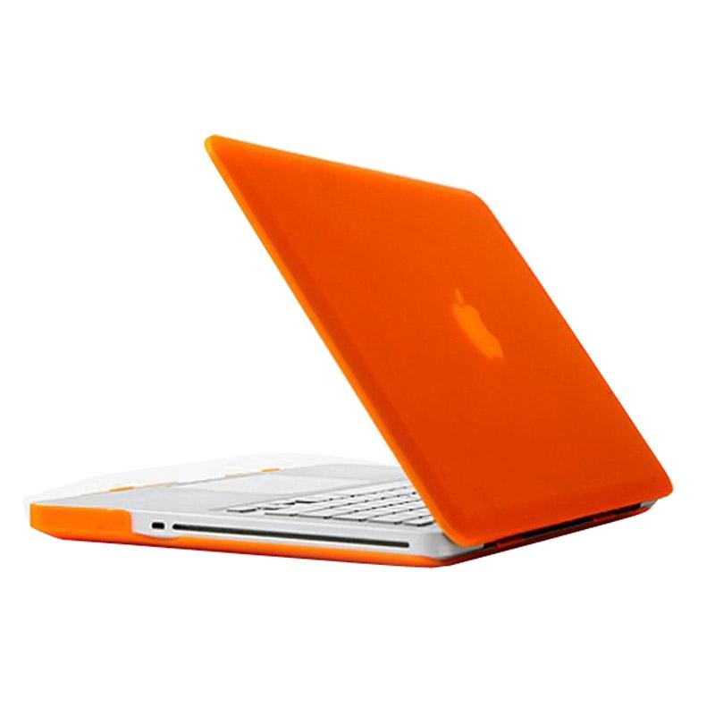 MacBook Pro 15.4 inch Frosted structuur hard Kunststof Hoesje / Case (Oranje)