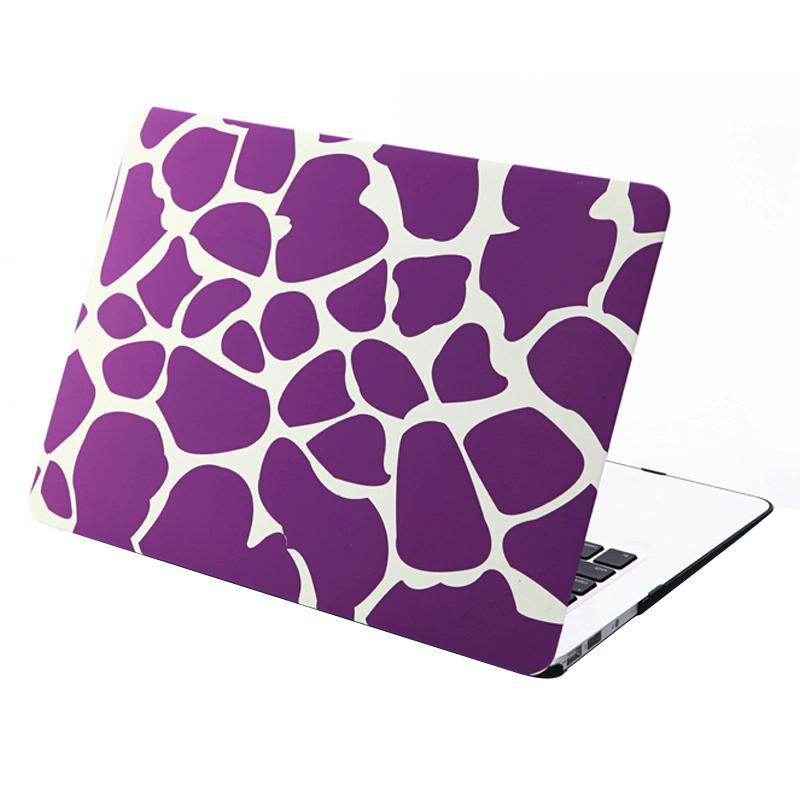 MacBook Air 13.3 inch Paars wit patroon hard Kunststof Hoesje / Case