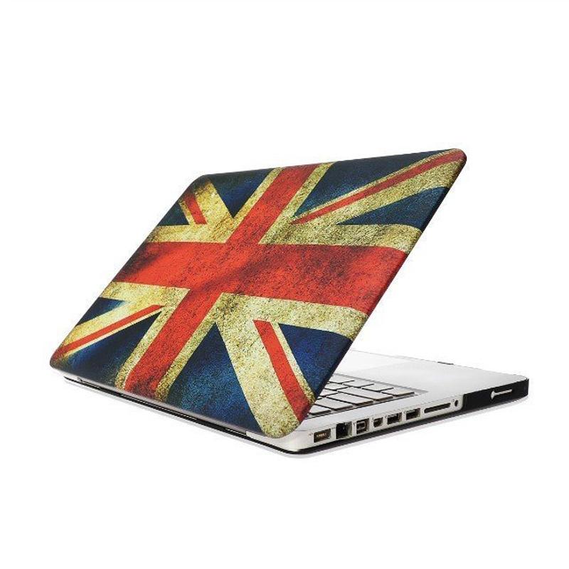 MacBook Pro 13.3 inch Retro UK vlag patroon hard Kunststof Hoesje / Case