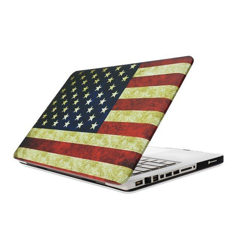 MacBook Pro 13.3 inch Retro USA vlag patroon hard Kunststof Hoesje / Case