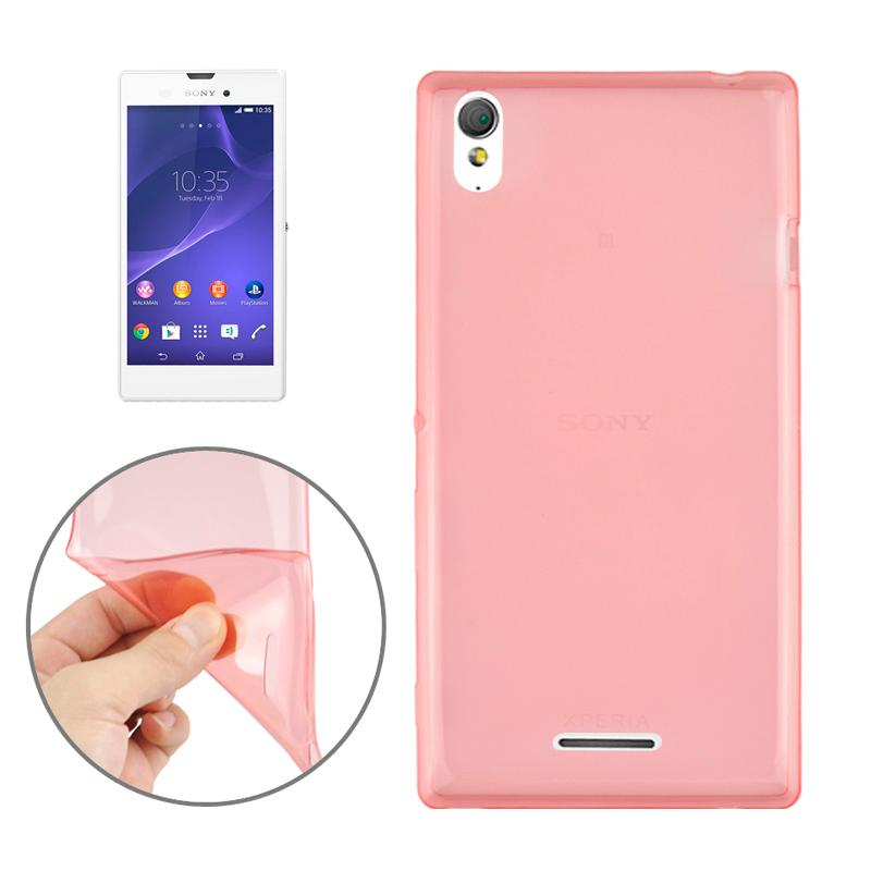 0.45mm ultra-dun Polycarbonate materiaal TPU & Jelly hoesje voor Sony Xperia T3(rood)