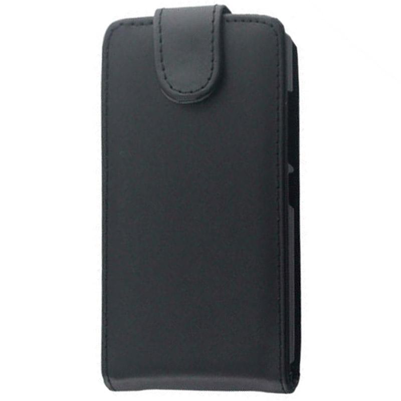 Vertical Flip lederen hoesje voor Nokia X2(zwart)