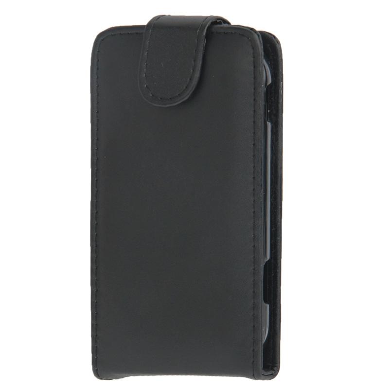 Vertical Flip lederen hoesje voor Nokia Lumia 720 (zwart)