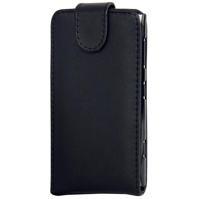 Vertical Flip lederen hoesje voor Nokia Lumia 1020 (zwart)