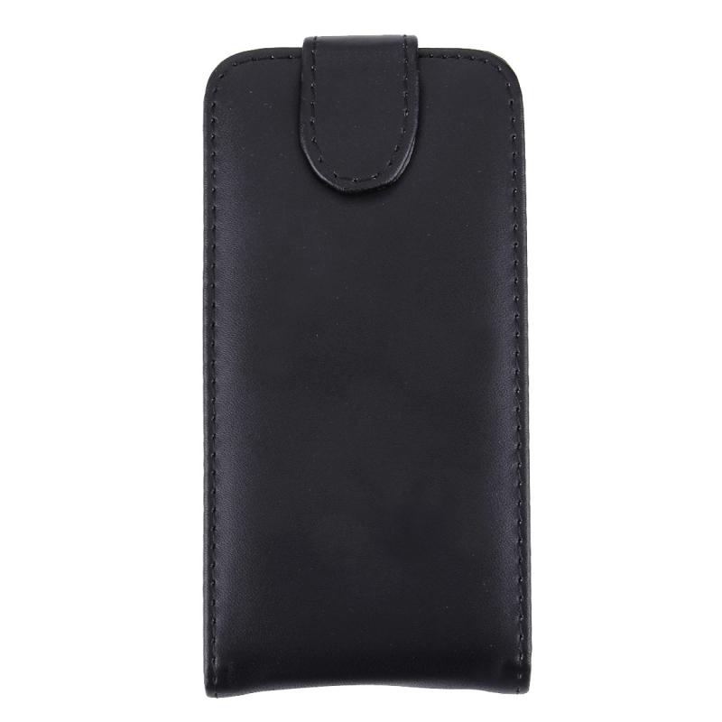 Vertical Flip Soft lederen hoesje voor Sony Xperia V / LT25i  (zwart)