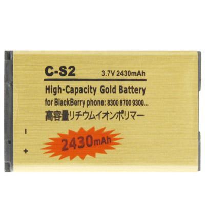 Afbeelding van 2430mAh C-S2 hoge capaciteit gouden editie Business Battery for BlackBerry 8300 / 8700 / 9300