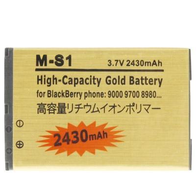 Afbeelding van 2430mAh M-S1 hoge capaciteit gouden editie Business batterij voor BlackBerry 9000 / 9700 / 8980