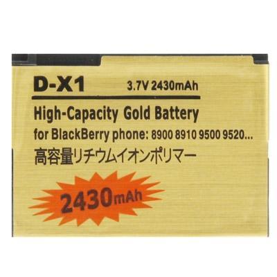 Afbeelding van 2430mAh D-X_1 hoge capaciteit gouden editie Business batterij voor BlackBerry 8900 / 8910 / 9500 / 9520