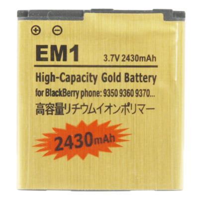 Afbeelding van 2430mah em1 high capacity golden edition business Batterij / accu voor blackberry 9350 / 9360 / 9370
