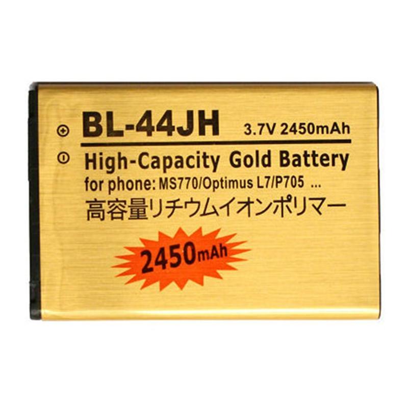 bl-44jh 2450mah high capacity gold business Batterij / accu voor lg ms770 / optimus l7 / p705