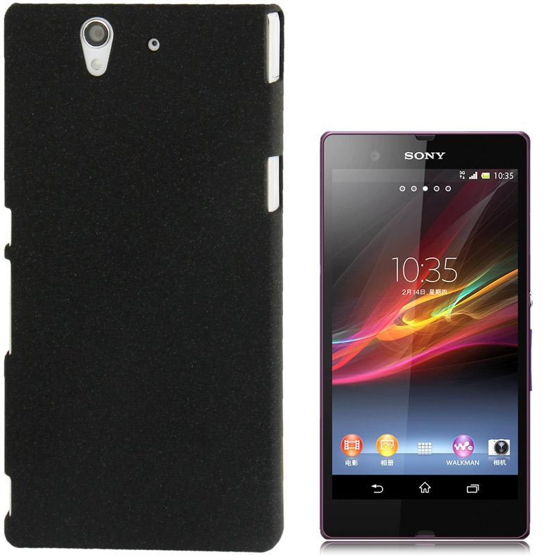 Sony Xperia Z / L36h Kunststof back cover Hoesje (zwart)