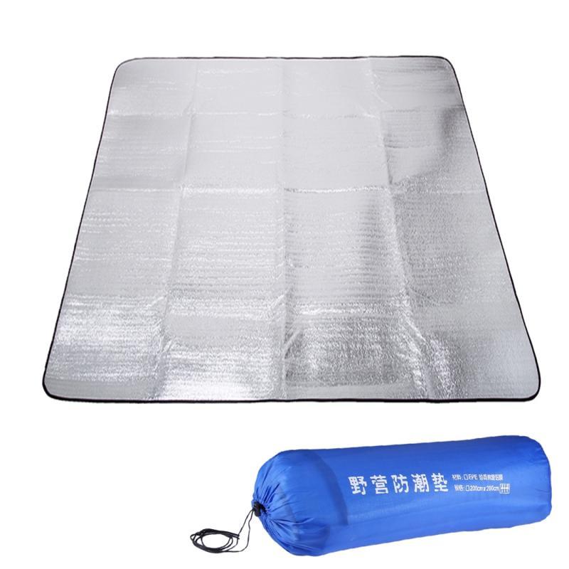 Afbeelding van 7mm verdikking van dubbele aluminium vocht Pad / Camping slapen Pad formaat: 200cm x 200cm(Blue)