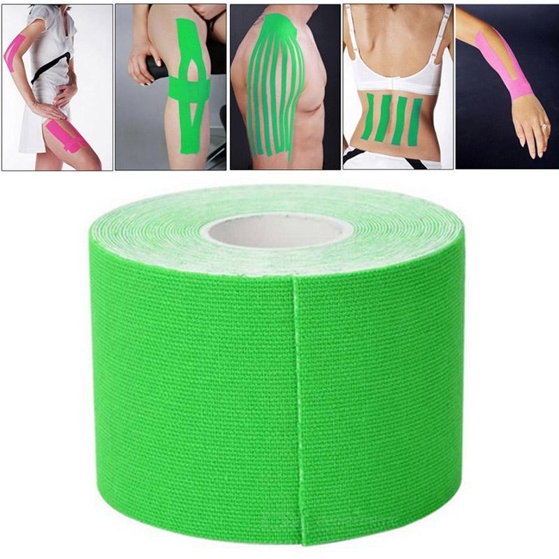 Afbeelding van 5M waterdicht sport Tape sport spieren zorg therapeutische Bandage breedte: 5cm(Green)