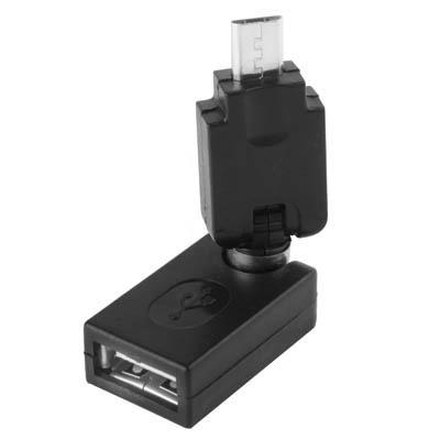 Afbeelding van USB 2.0 A vrouwtje naar Micro USB 360 graden draaibaar Adapter met OTG voor Samsung Galaxy S IV / i9500 / S III / i9300 / Note II / N7100 / i9220 / i9100 / i9082 / Nokia / LG / BlackBerry / HTC One X / Amazon Kindle / Sony Xperia etc(zwart)