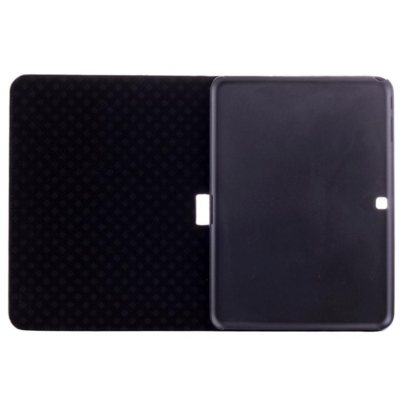 Wereldkaart patroon Flip lederen hoesje met houder voor Samsung Galaxy Tab 4 10.1 / SM-T530,  (grijs)