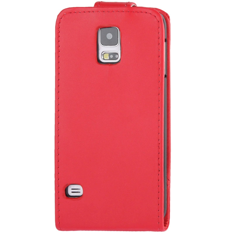 Vertical Flip lederen hoesje voor Samsung Galaxy S5 / G900(rood)