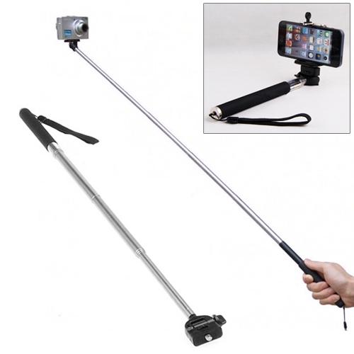Verstelbare Selfie Monopod voor Camera, Apple iPhone, Samsung, Huawei, Xiaomi, Sony, LG, HTC, Google en andere Smartphones (zwart)
