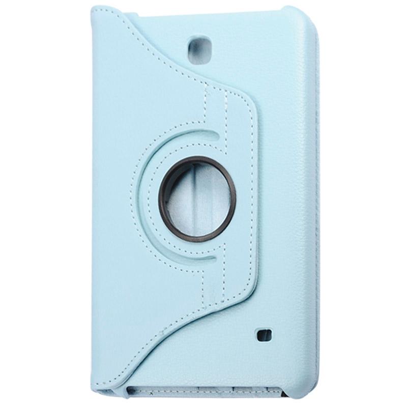 360 graden draaiend Litchi structuur lederen hoesje met houder voor Samsung Galaxy Tab 4 8.0 / SM-T330(blauw)