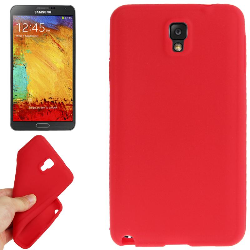 Anti-kras Siliconen hoesje voor Samsung Galaxy Note III / N9000 (rood)