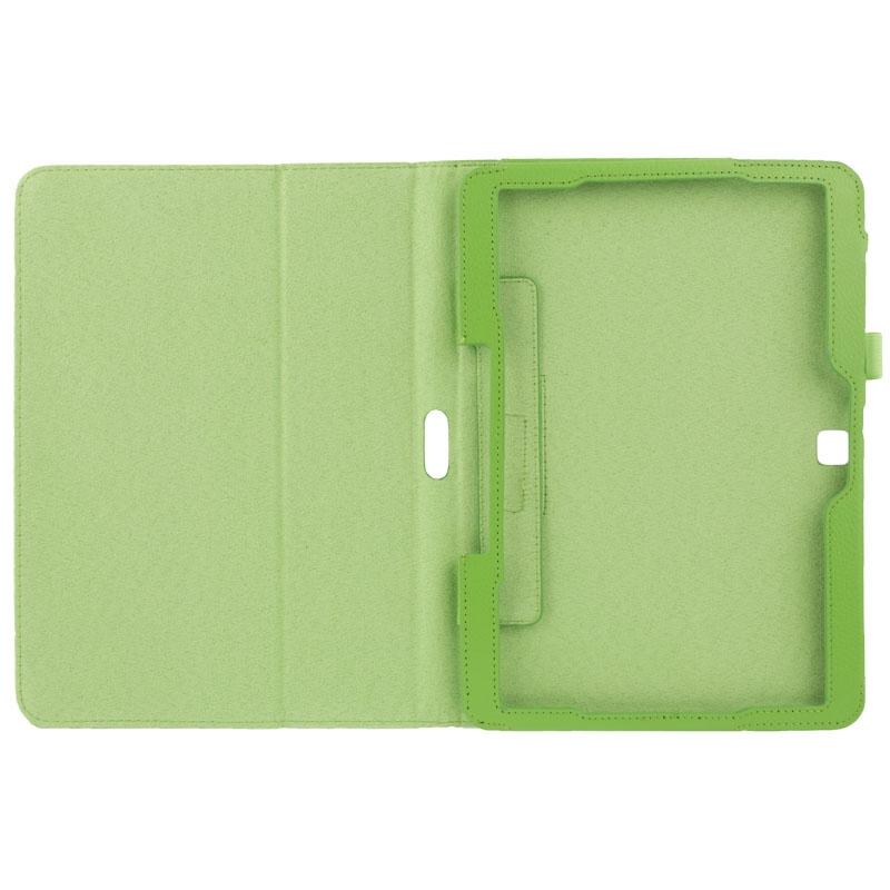 Litchi structuur Flip lederen hoesje met houder voor Samsung Galaxy Tab 4 10.1 / T530 (groen)