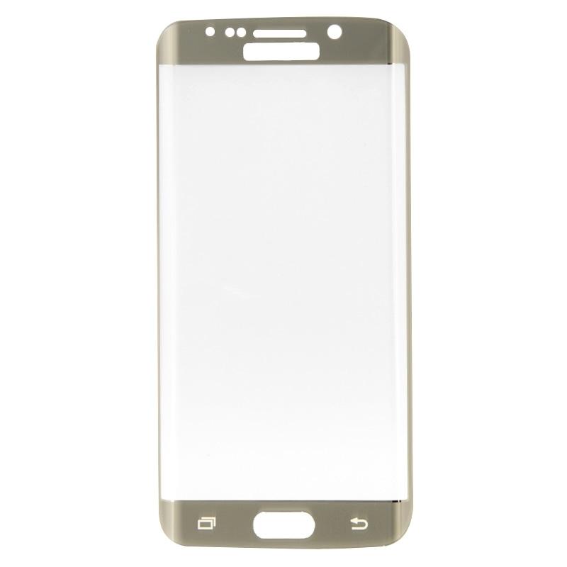 Afbeelding van 0.3mm 9H oppervlakte hardheid 3D explosieveilige ingekleurd galvaniseren getemperd glas volledige scherm Film voor Galaxy S6 edge(Gold)