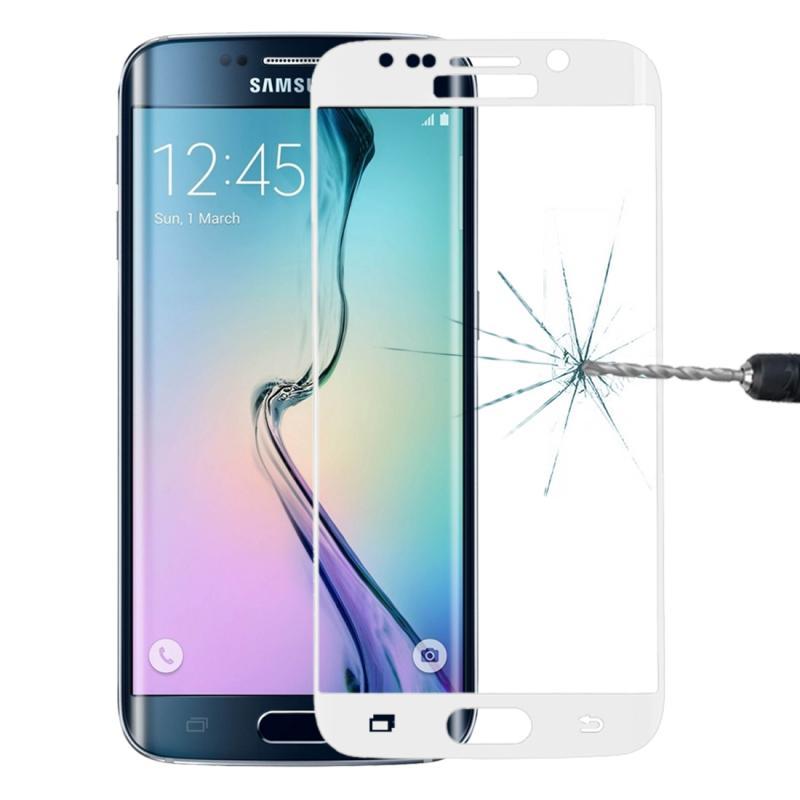 Afbeelding van 0.3mm 9H oppervlakte hardheid 3D explosieveilige ingekleurd galvaniseren getemperd glas volledige scherm Film voor Galaxy S6 edge(White)