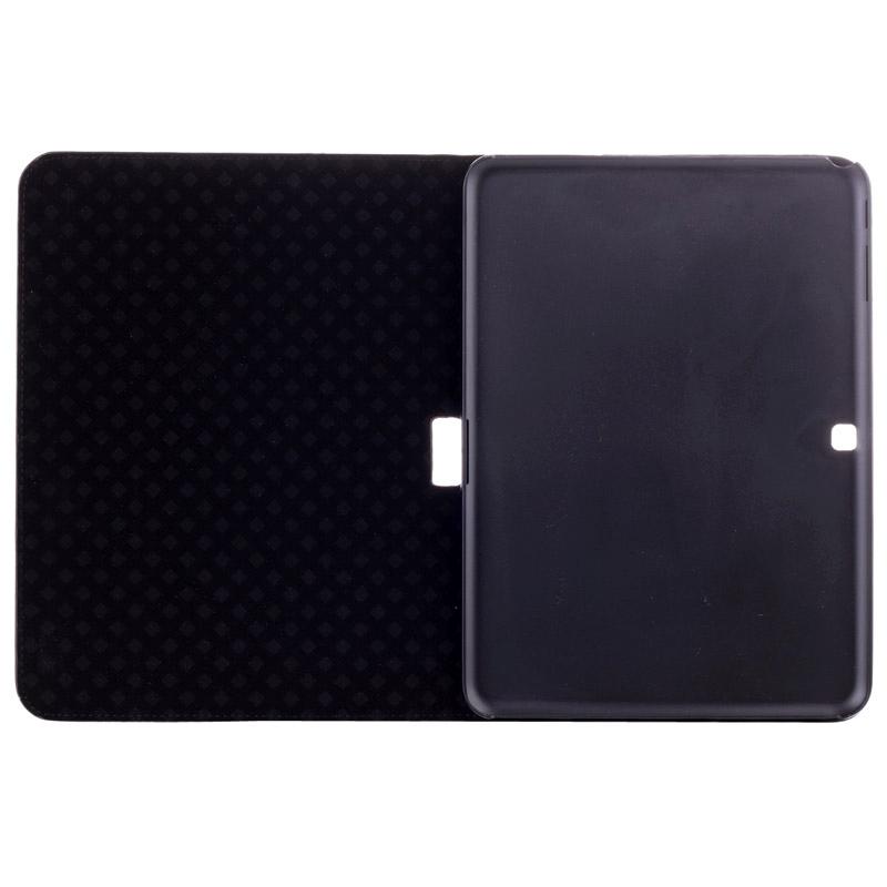 krokodil structuur lederen hoesje met houder voor Samsung Galaxy Tab 4 10.1 / SM-T530 (zwart)