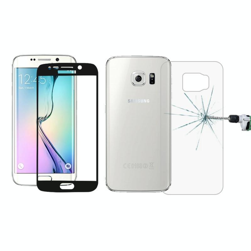 Afbeelding van 0.3mm 9H oppervlakte hardheid 3D gebogen oppervlak Full Screen Cover explosieveilige voorkant + achterkant getemperd glas Film voor Galaxy S6 edge(Black)