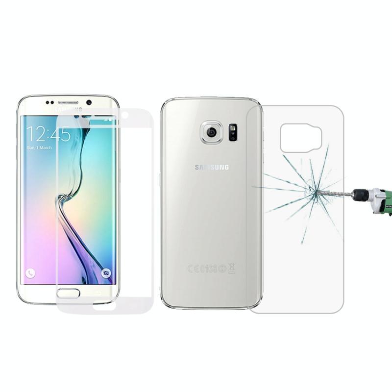 Afbeelding van 0.3mm 9H oppervlakte hardheid 3D gebogen oppervlak Full Screen Cover explosieveilige voorkant + achterkant getemperd glas Film voor Galaxy S6 edge(Transparent)