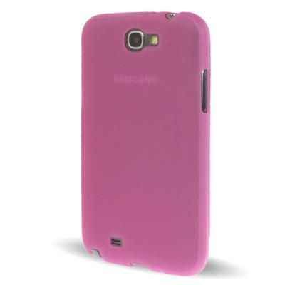 Samsung Galaxy Note II / N7100 doorschijnend TPU hoesje (hard roze)