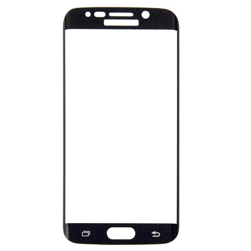Afbeelding van 0.3mm 9H oppervlakte hardheid 3D gebogen oppervlak Full Screen Cover explosieveilige getemperd glas Film voor Galaxy S6 edge(Black)