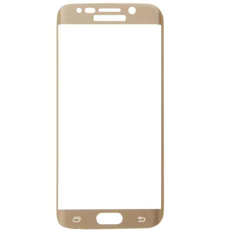 Afbeelding van 0.3mm 9H oppervlakte hardheid 3D gebogen oppervlak Full Screen Cover explosieveilige getemperd glas Film voor Galaxy S6 edge(Gold)