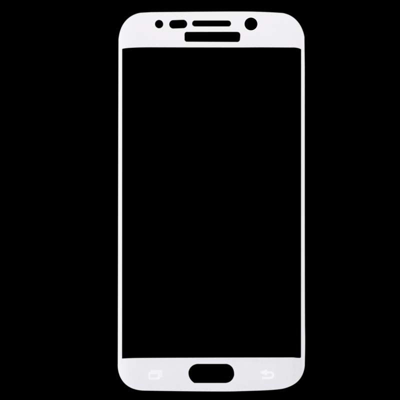 Afbeelding van 0.3mm 9H oppervlakte hardheid 3D gebogen oppervlak Full Screen Cover explosieveilige getemperd glas Film voor Galaxy S6 edge(White)