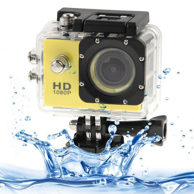 SJ4000 Full HD 1080P 1.5 inch LCD sport Camcorder met waterdichte geval 12.0 Mega CMOS Sensor 30m Waterproof(Yellow)