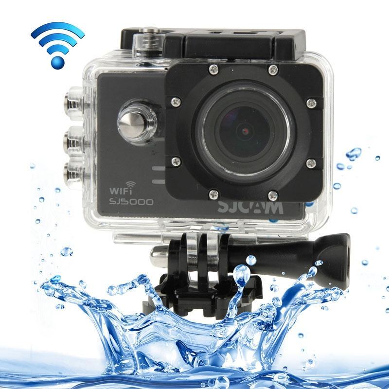 SJCAM SJ5000 Novatek Full HD 1080P 2.0 inch LCD scherm WiFi sport Camcorder Camera met waterdicht geval 14.0 Mega CMOS Sensor 30m Waterproof(Black)